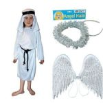 ANGEL GABRIEL WITH WINGS AND HALO 10-12 YEARS FANCY DRESS COSTUME
